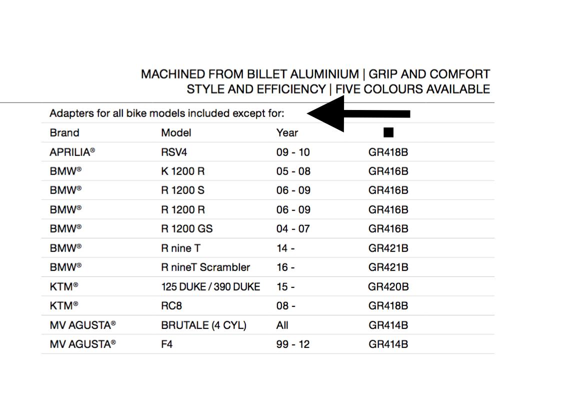 Rizoma Universal Legend Billet Aluminum Grips Gr220