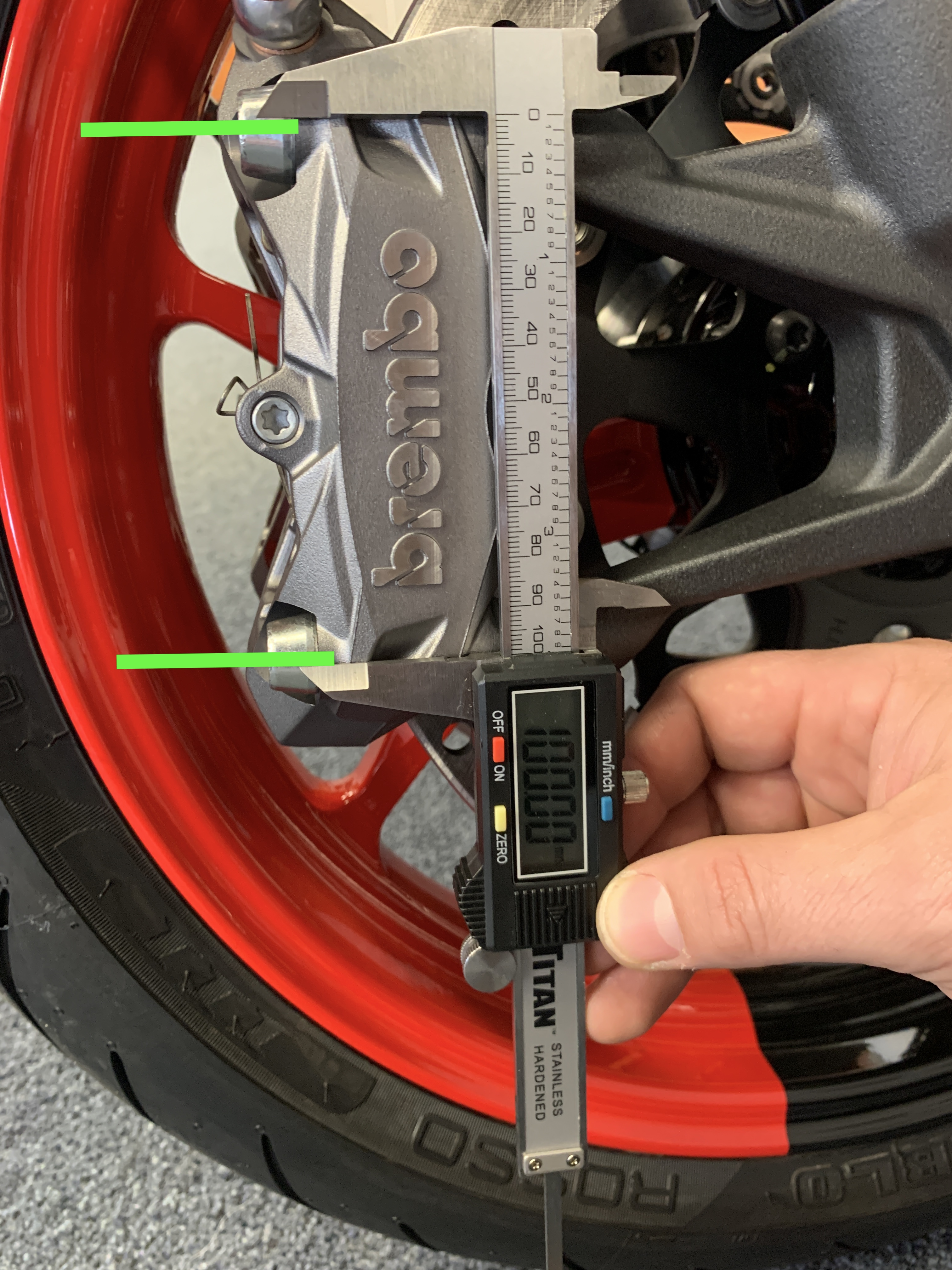brembo brake caliper spacing measure best motovation