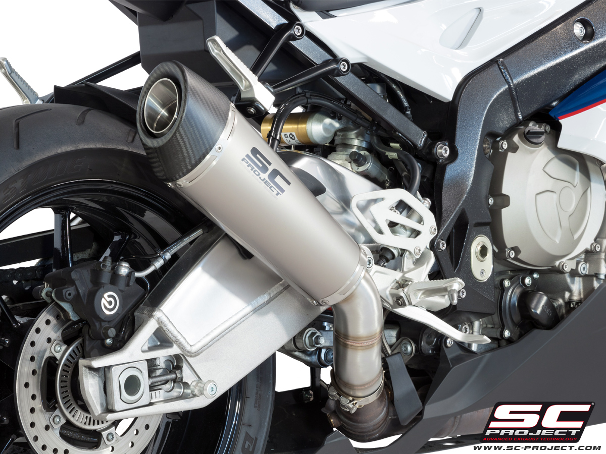 bmw s1000rr slipon exhaust scproject vs