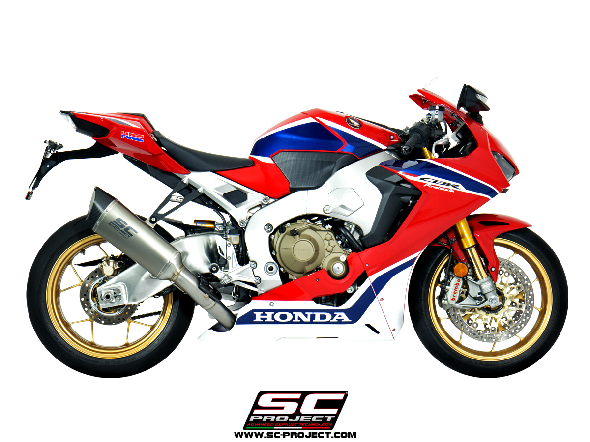 honda cbr1000rr best exhaust slipon sc-project titanium