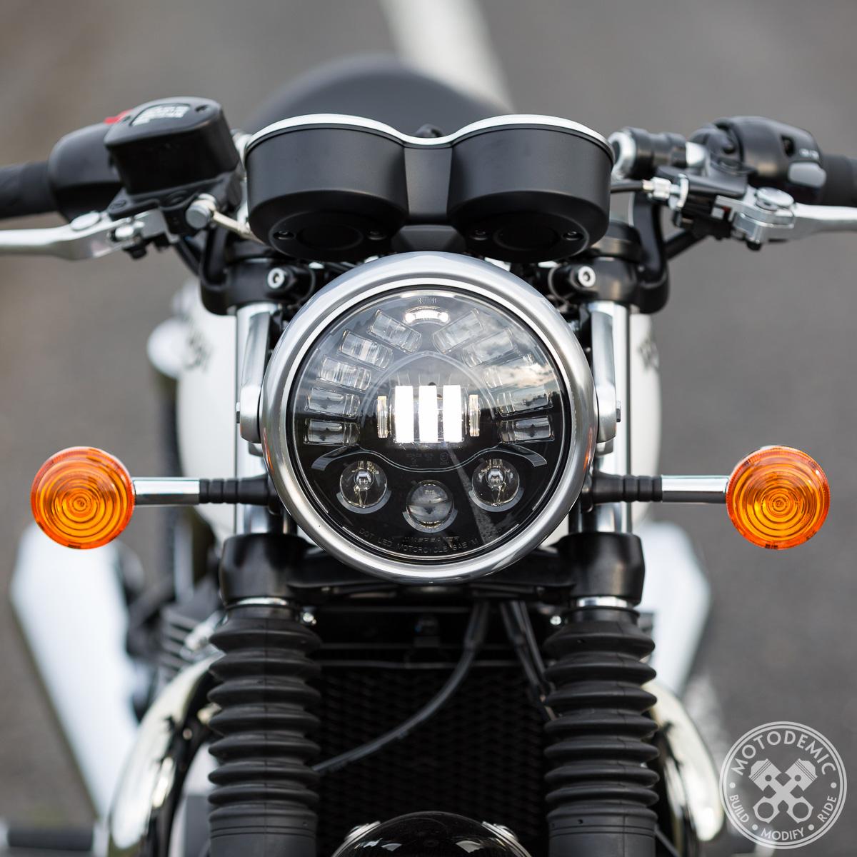 Single 7 Inch Adaptive LED Headlight Conversion Kit by Motodemic ... for Motorcycle Headlight Design  193tgx