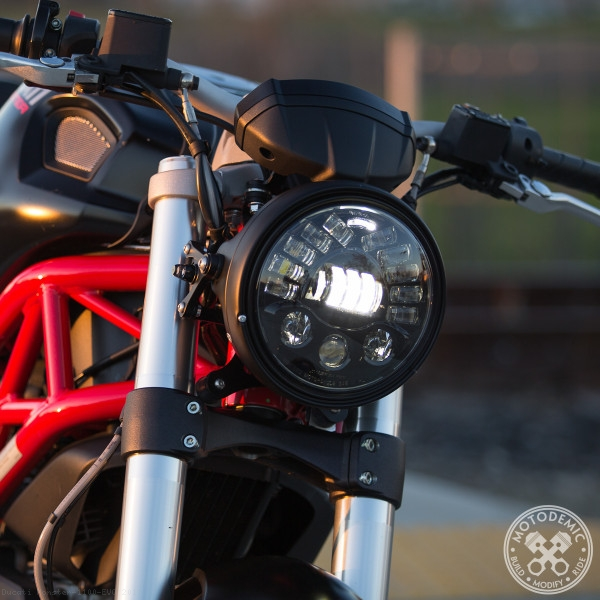 Adaptive Led Headlight Conversion Kit By Motodemic Ducati