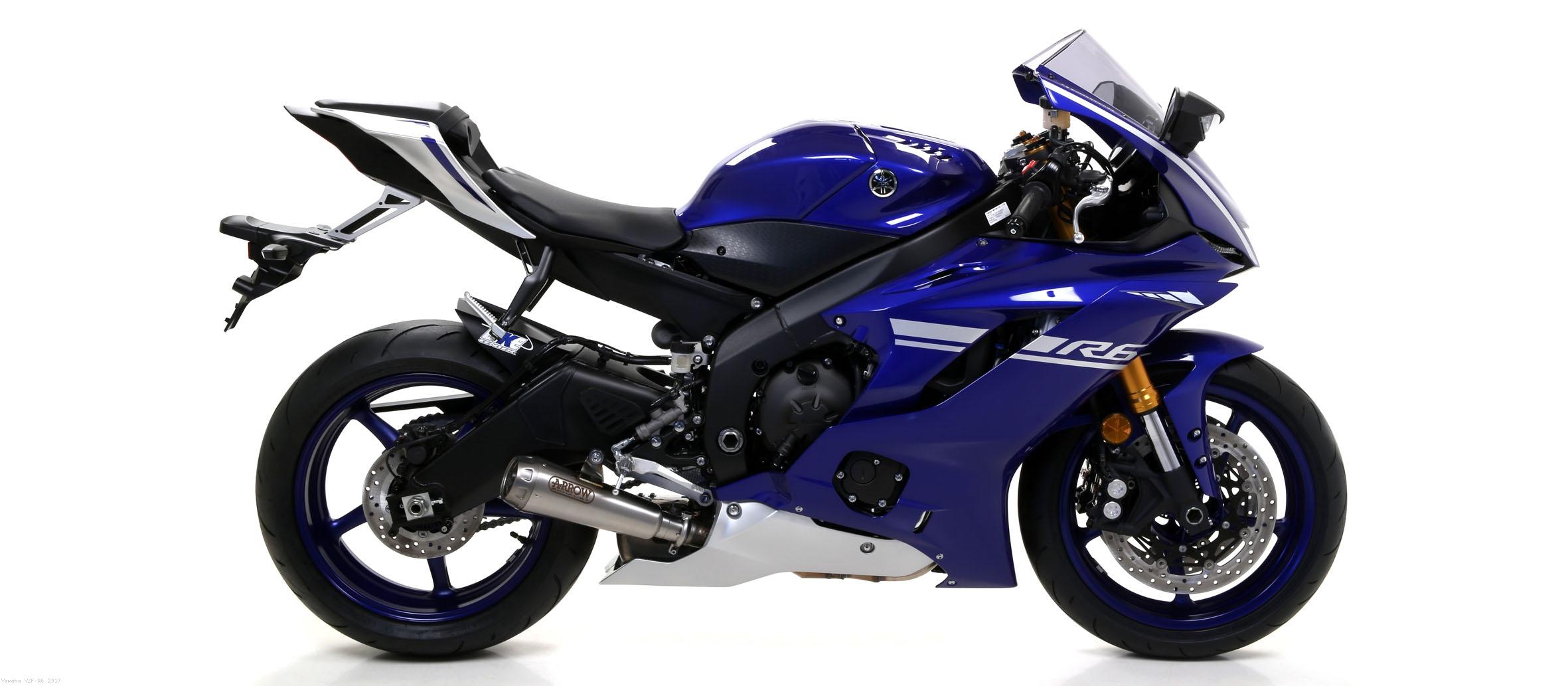 Pro Race Nichrom Slip On Exhaust By Arrow Yamaha YZF R6