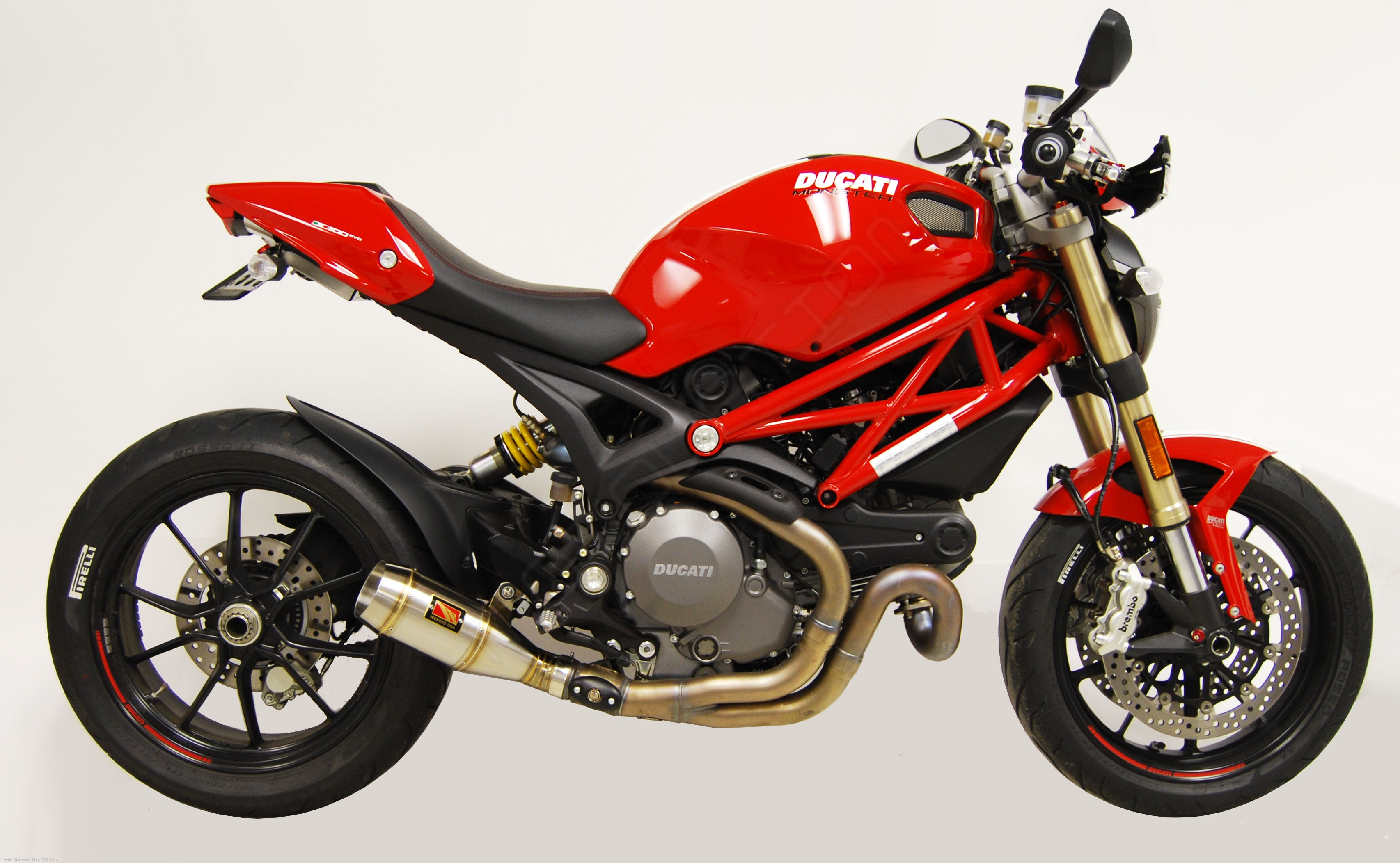gp slip on exhaust by competition werkes ducati monster. Black Bedroom Furniture Sets. Home Design Ideas