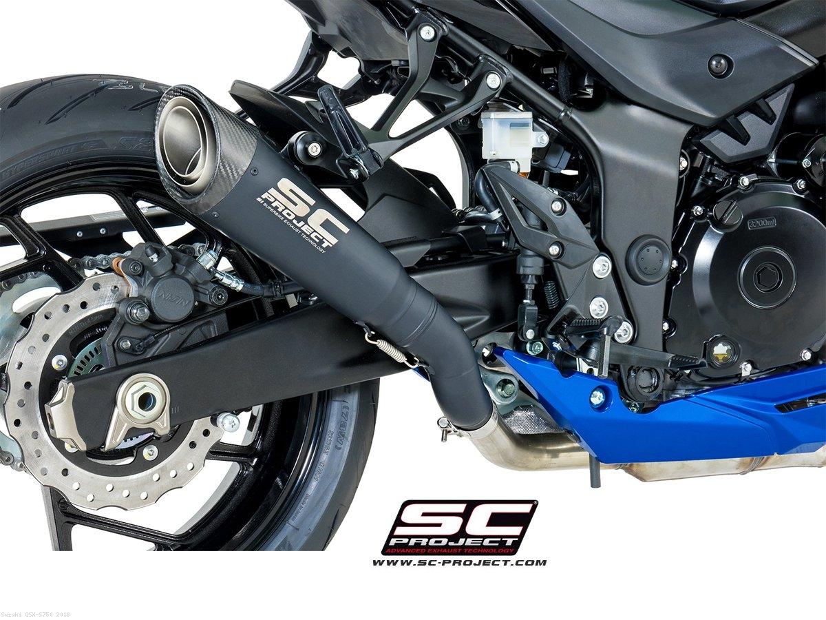 Black Edition Titanium S1 Exhaust By SC Project Suzuki GSX S750 2018