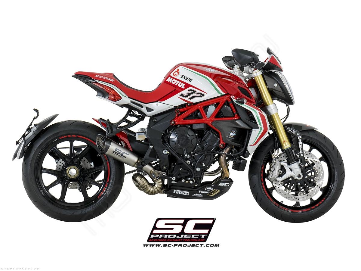 S1 Exhaust by SC-Project MV Agusta / Brutale 800 / 2014 (M0256-LT41TR)