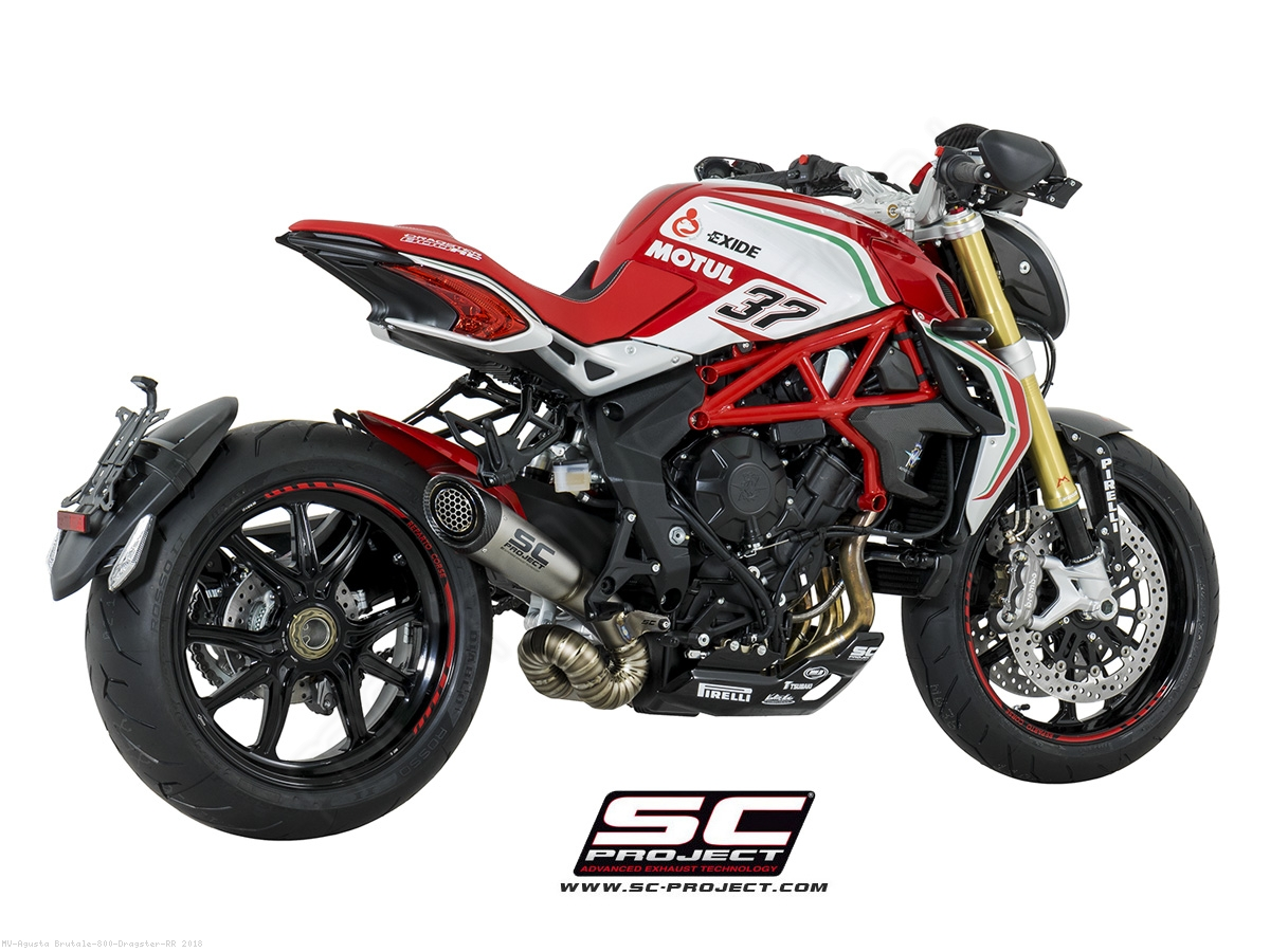 s1 exhaust by sc project mv agusta brutale 800 dragster. Black Bedroom Furniture Sets. Home Design Ideas