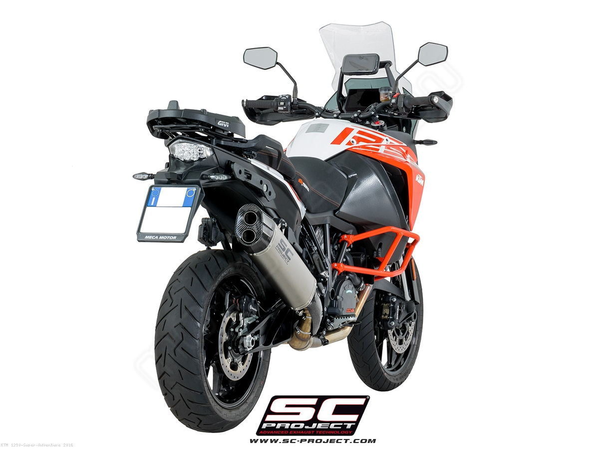 adventure exhaust by sc project ktm 1290 super adventure 2016 ktm08 86t. Black Bedroom Furniture Sets. Home Design Ideas