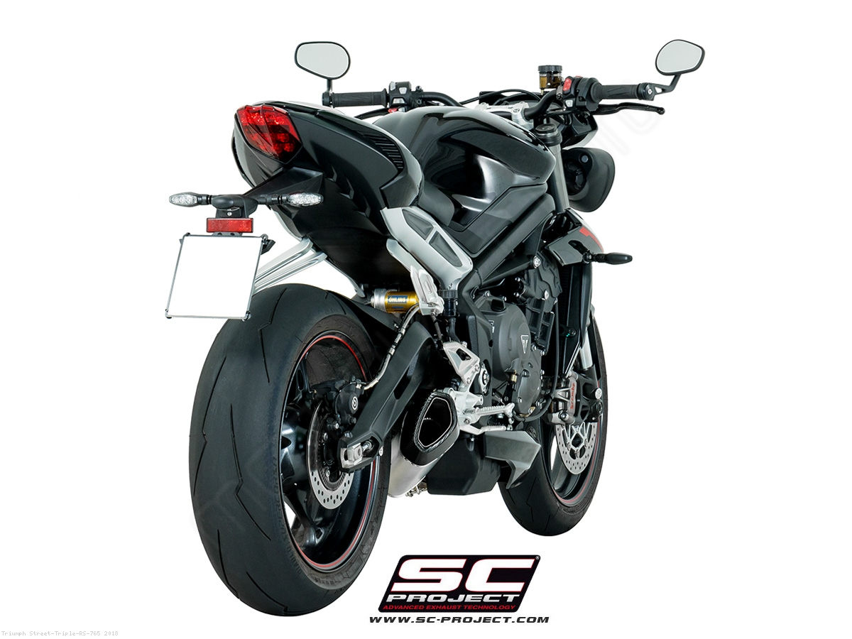 sc1 r exhaust by sc project triumph street triple rs 765. Black Bedroom Furniture Sets. Home Design Ideas