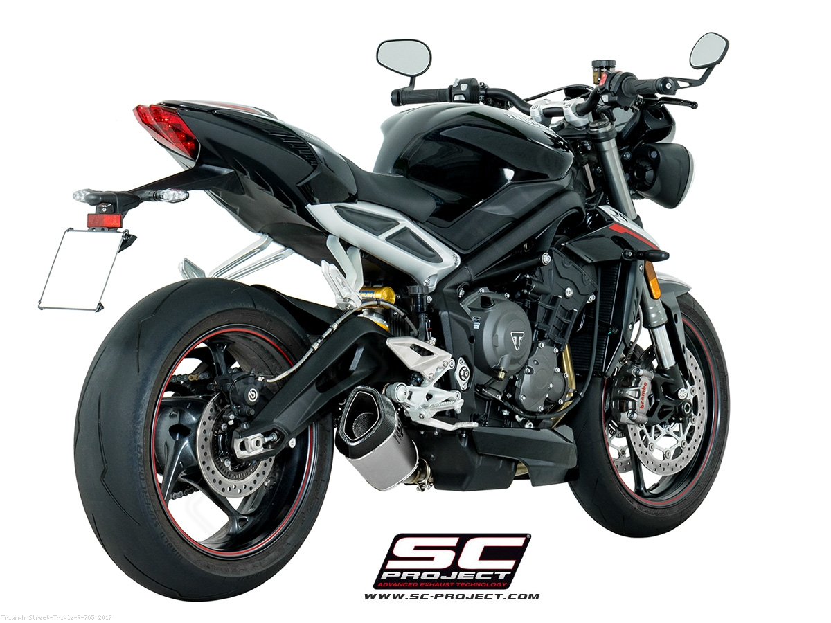 sc1 r exhaust by sc project triumph street triple r 765 2017 t18 93. Black Bedroom Furniture Sets. Home Design Ideas
