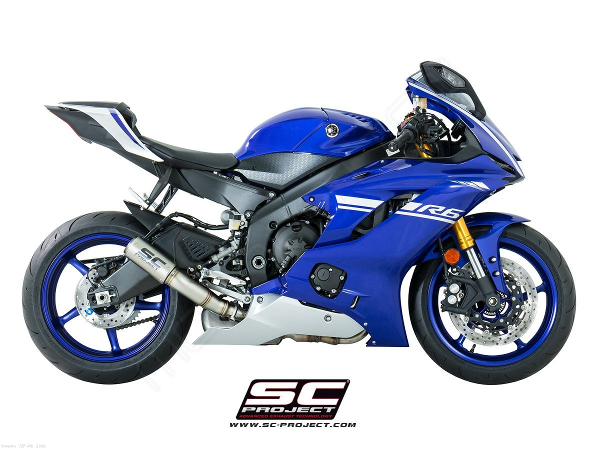 cr t high mount exhaust by sc project yamaha yzf r6 2018 y21 h38