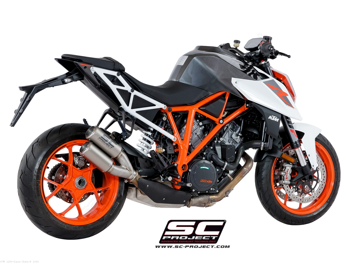 cr t exhaust by sc project ktm 1290 super duke r 2018. Black Bedroom Furniture Sets. Home Design Ideas