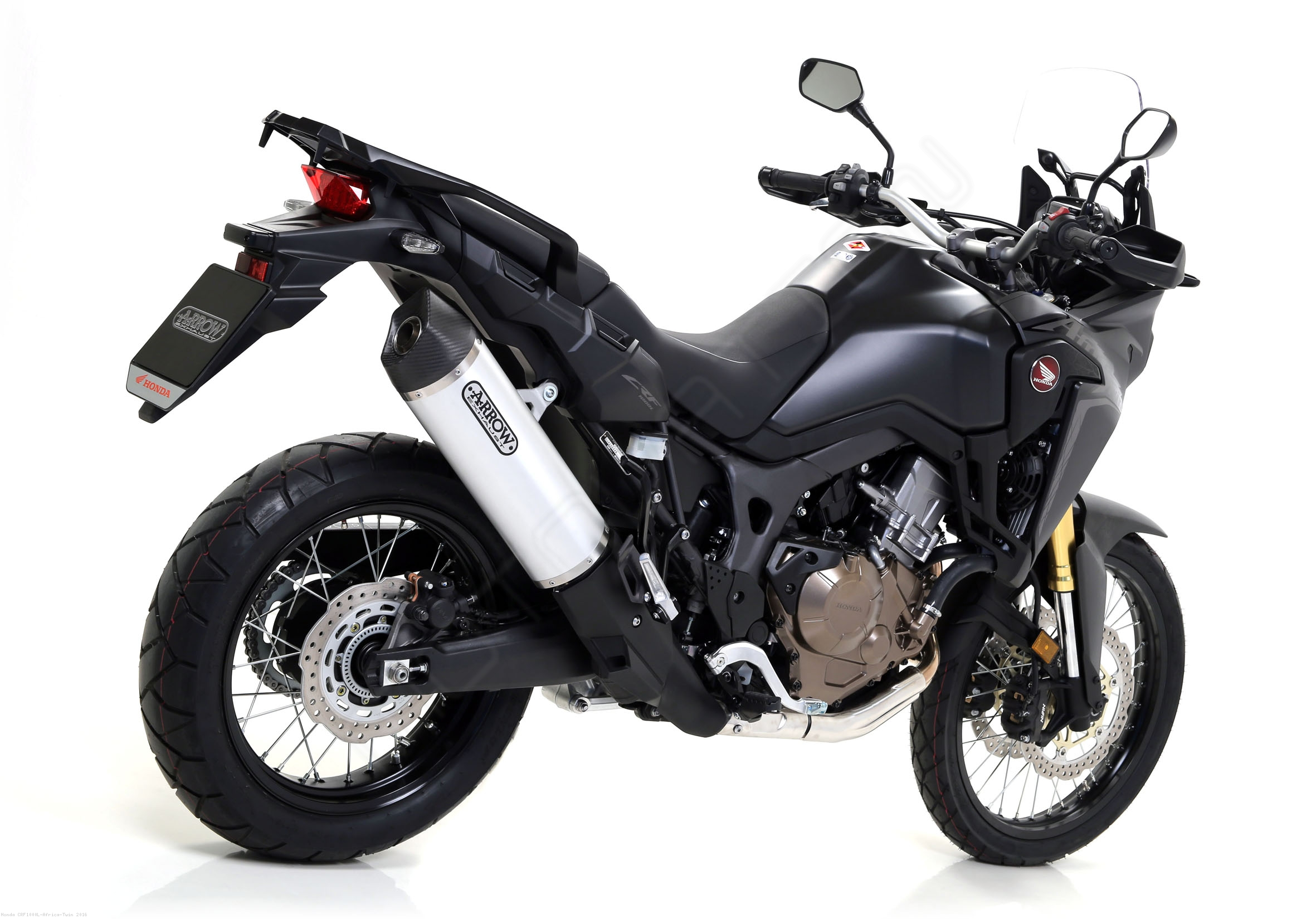 race tech exhaust by arrow honda crf1000l africa twin. Black Bedroom Furniture Sets. Home Design Ideas