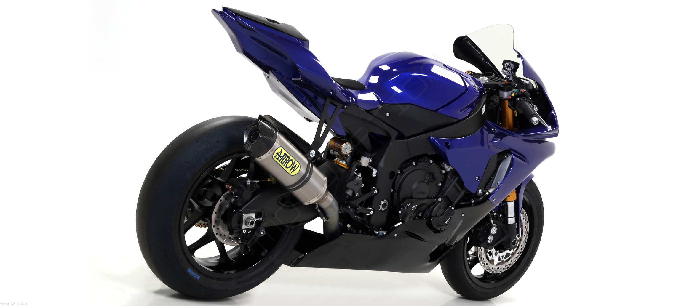competition full exhaust system by arrow yamaha yzf r1 2018 71178ckz. Black Bedroom Furniture Sets. Home Design Ideas