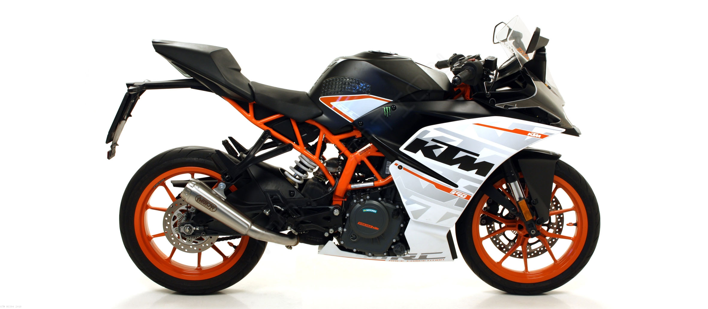2018 ktm catalogue. interesting catalogue nichrom prorace exhaust slipon by arrow ktm  rc390 2018 in ktm catalogue