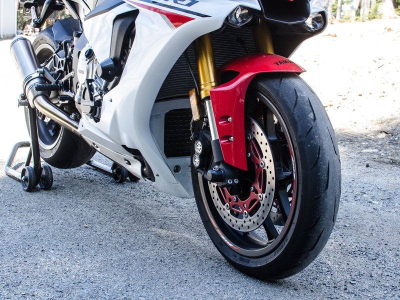 Front Fork Axle Sliders By Woodcraft Yamaha YZF R1 2017