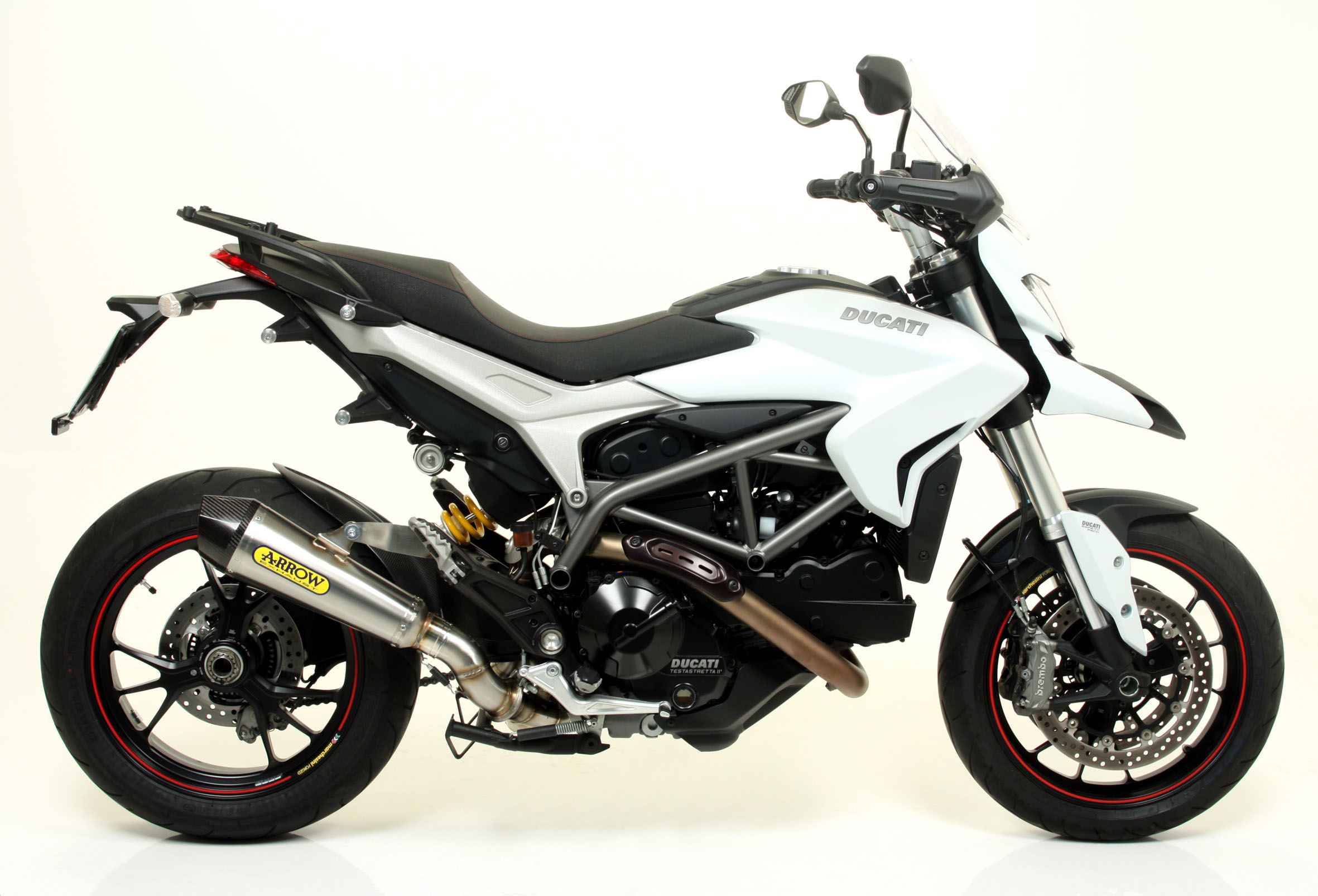 ducati hypermotard hyperstrada 821 slip on exhaust by arrow. Black Bedroom Furniture Sets. Home Design Ideas