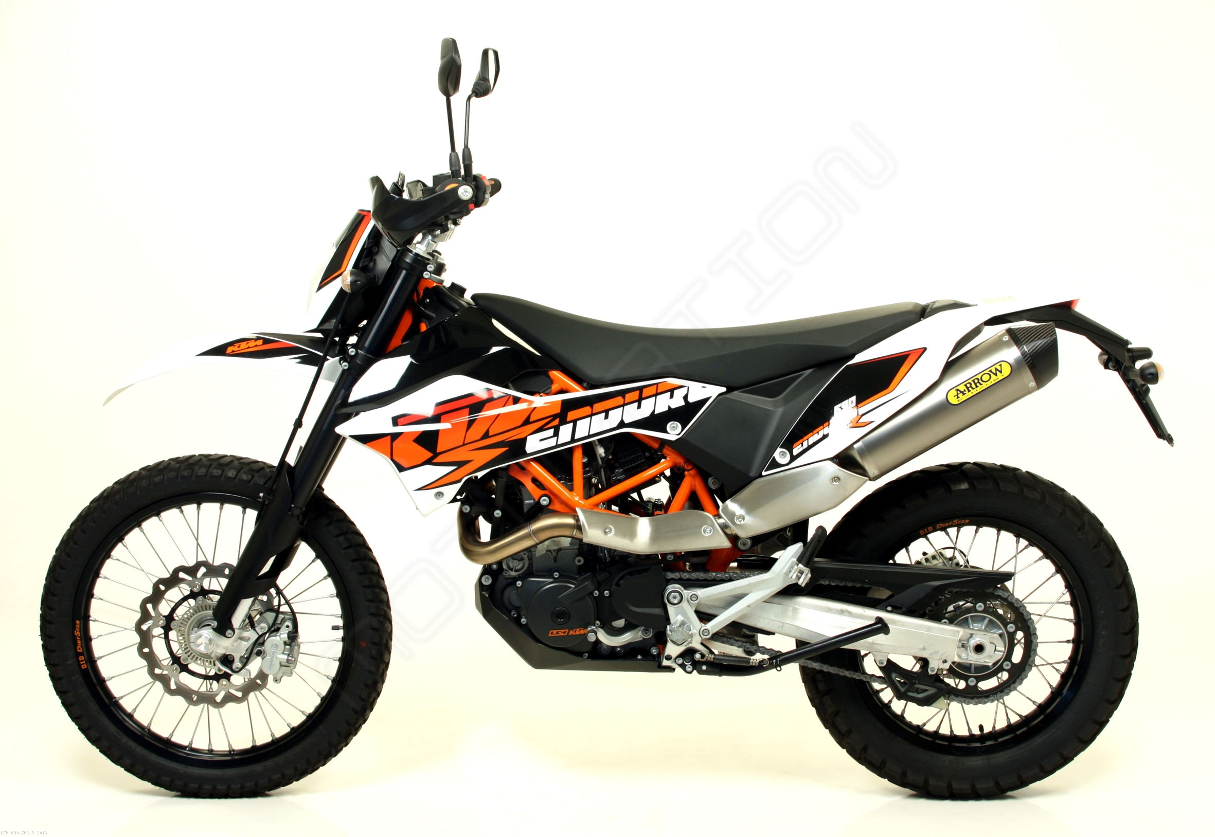 race tech exhaust by arrow ktm 690 smc r 2016 72618 72119pd. Black Bedroom Furniture Sets. Home Design Ideas