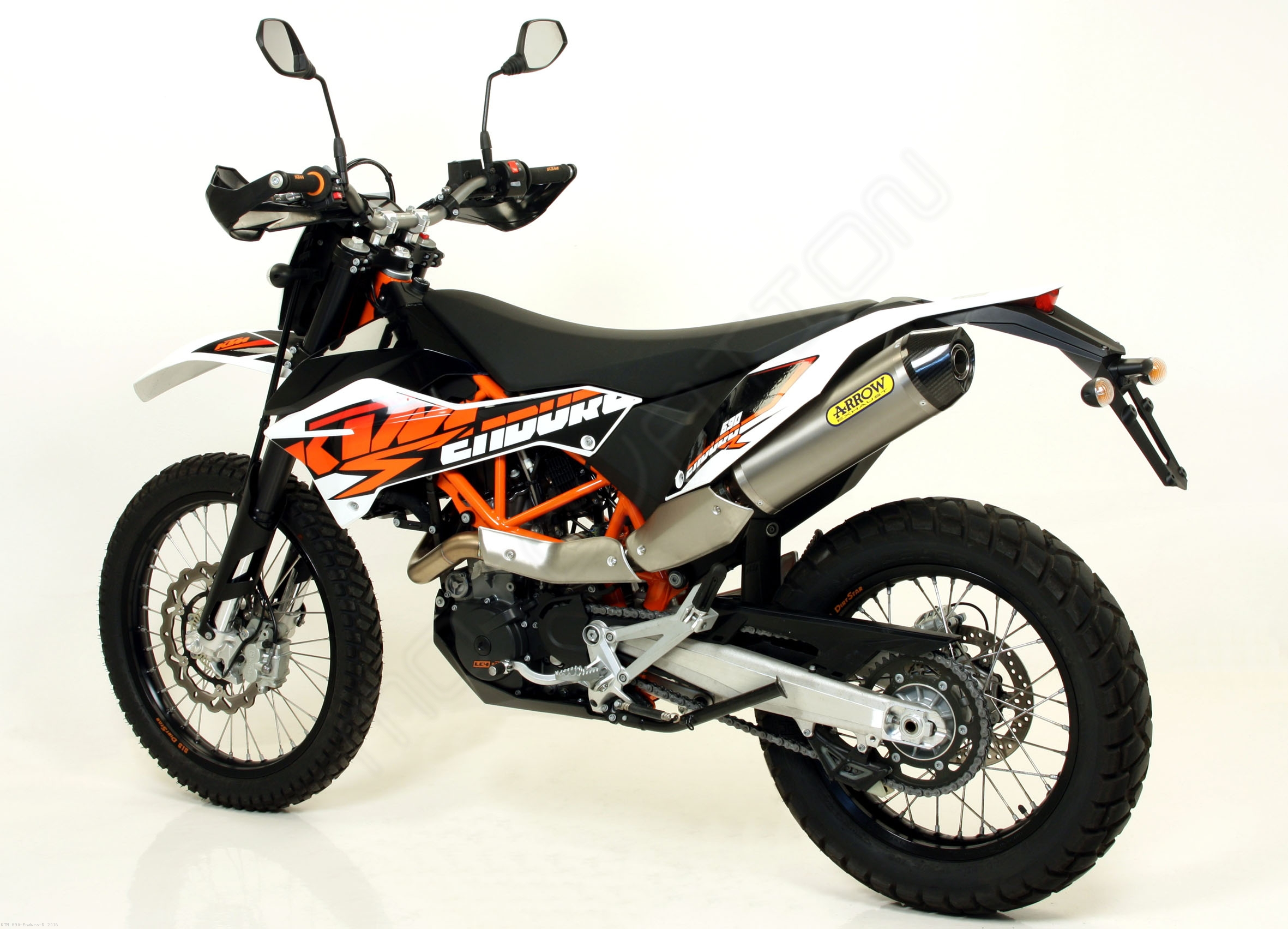 race tech exhaust by arrow ktm 690 enduro r 2016 72618 72119pd. Black Bedroom Furniture Sets. Home Design Ideas