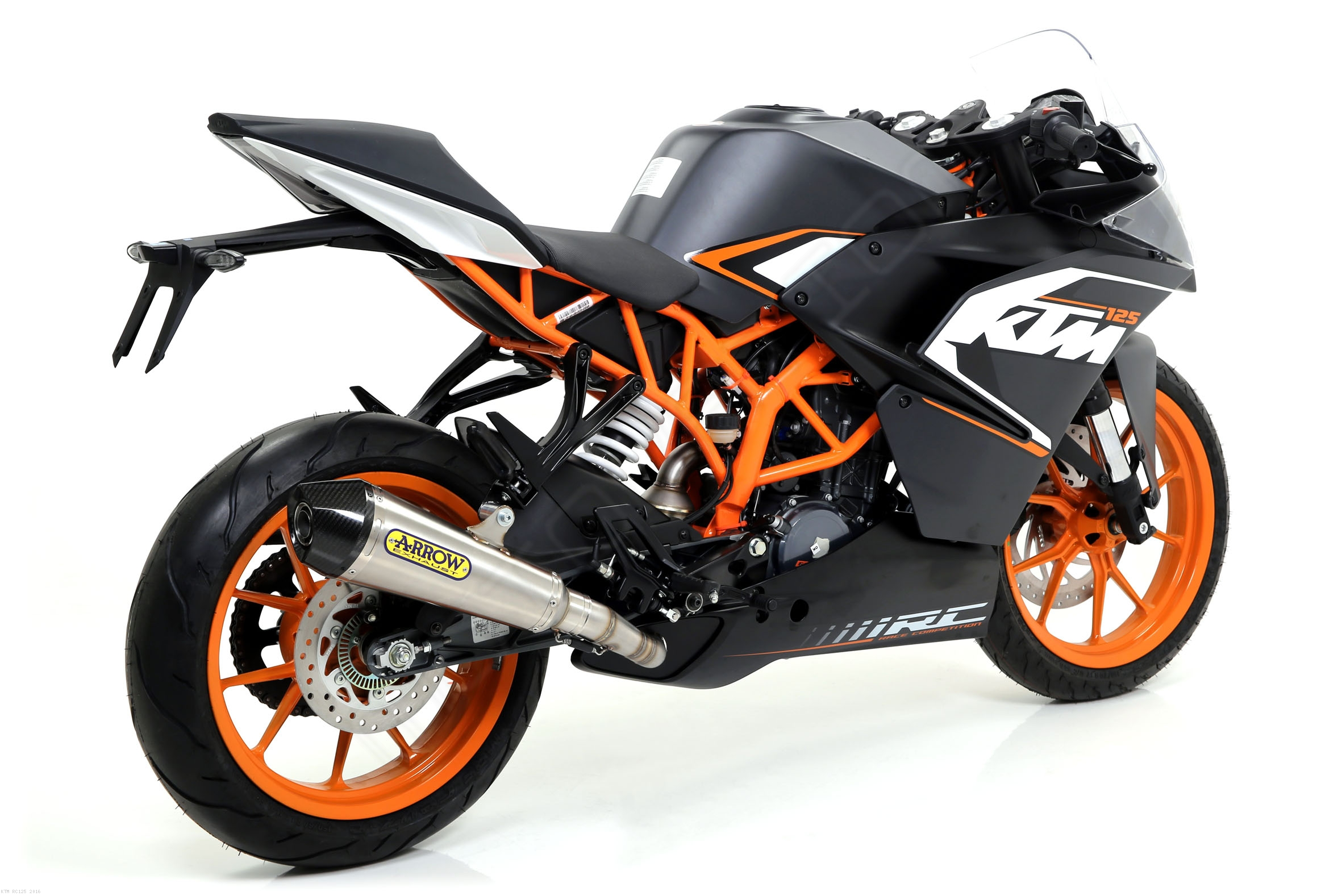arrow x cone slip on exhaust ktm rc125 2016 71813xki. Black Bedroom Furniture Sets. Home Design Ideas