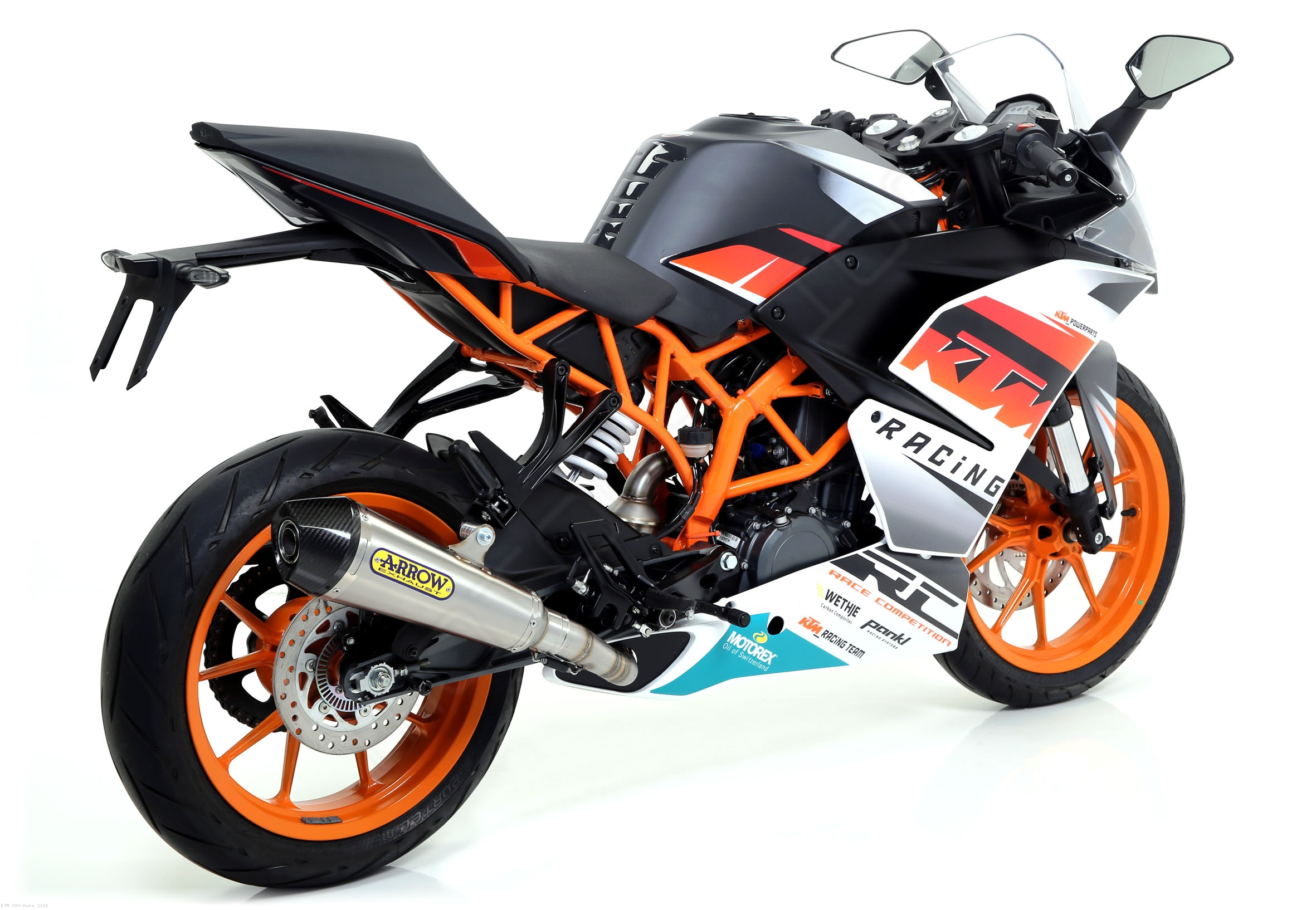 arrow x cone slip on exhaust ktm 390 duke 2016 71813xki. Black Bedroom Furniture Sets. Home Design Ideas