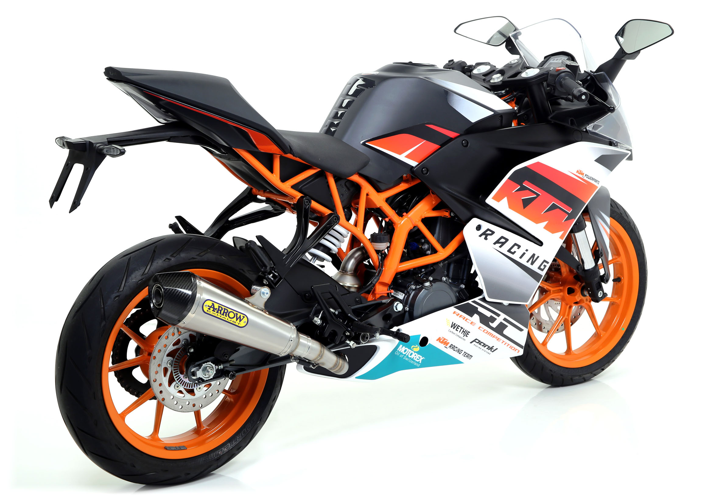ktm 390 x cone exhaust by arrow. Black Bedroom Furniture Sets. Home Design Ideas
