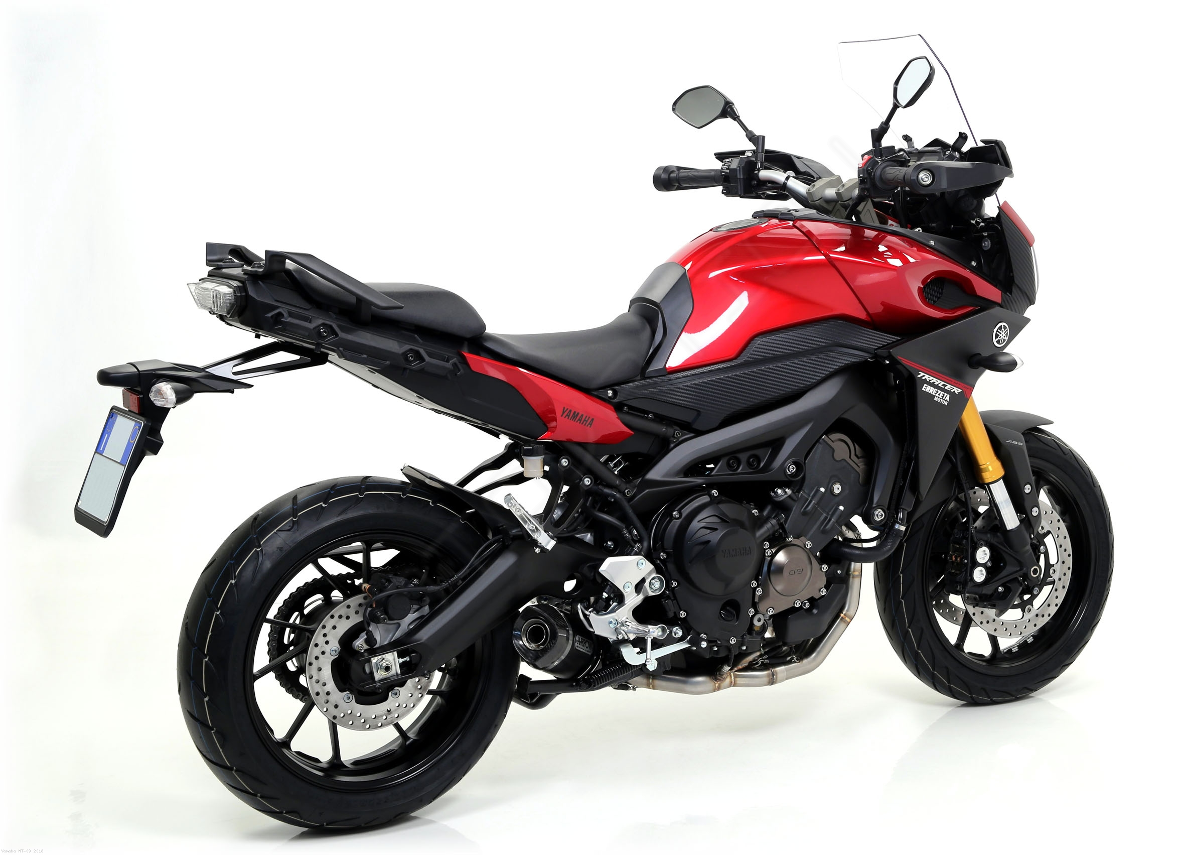 street 39 thunder 39 full exhaust system by arrow yamaha mt. Black Bedroom Furniture Sets. Home Design Ideas