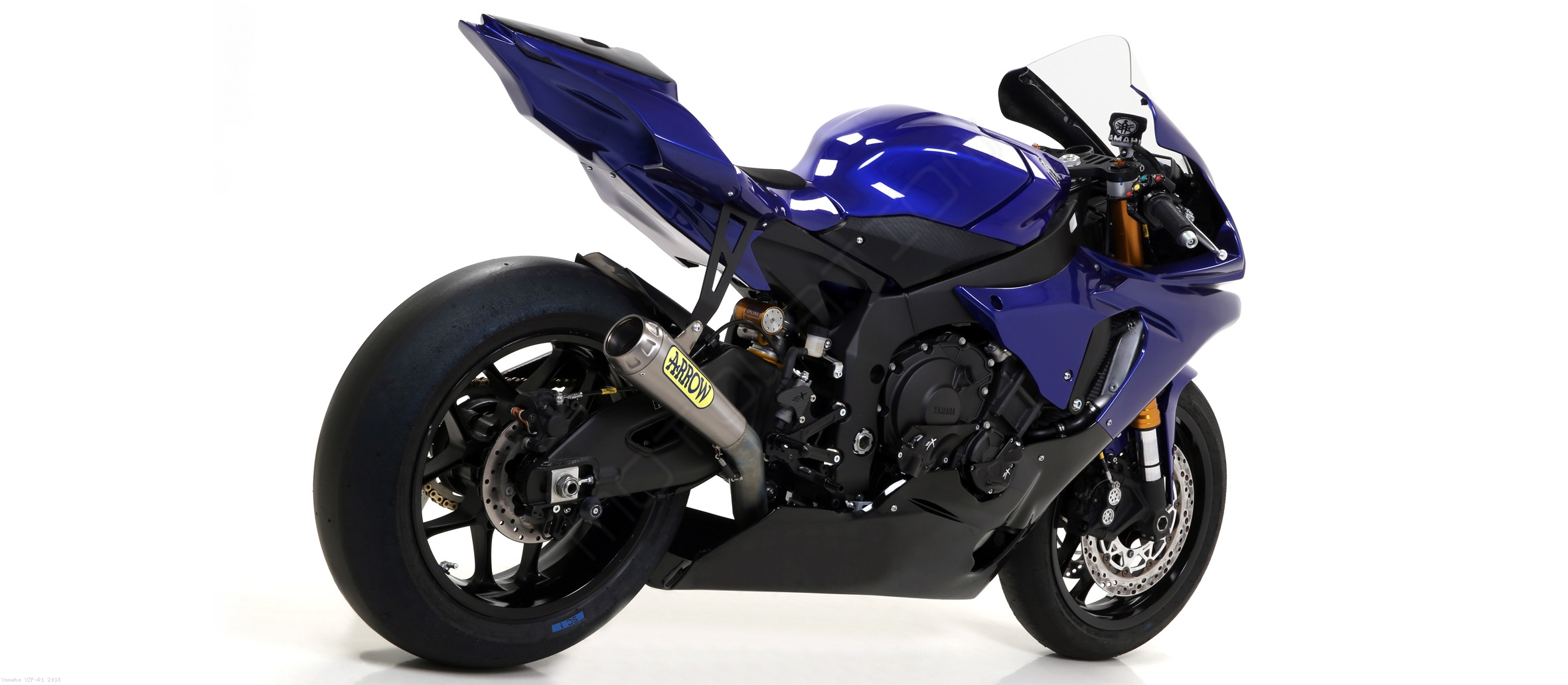 competition evo full exhaust system by arrow yamaha yzf r1 2018 71178cp. Black Bedroom Furniture Sets. Home Design Ideas