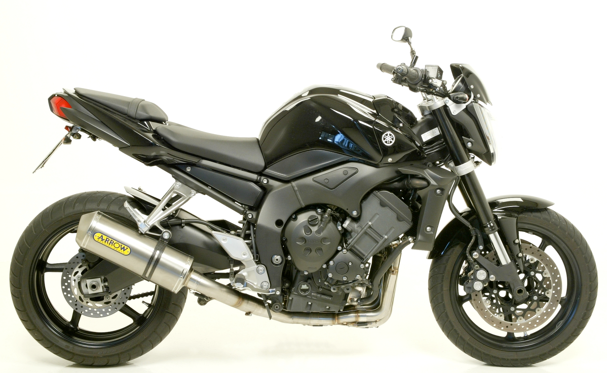 yamaha fz1 race tech slip on exhaust by arrow 2006 2012. Black Bedroom Furniture Sets. Home Design Ideas