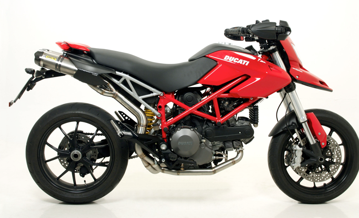 ducati hypermotard 796 shorty slip on exhaust by arrow. Black Bedroom Furniture Sets. Home Design Ideas