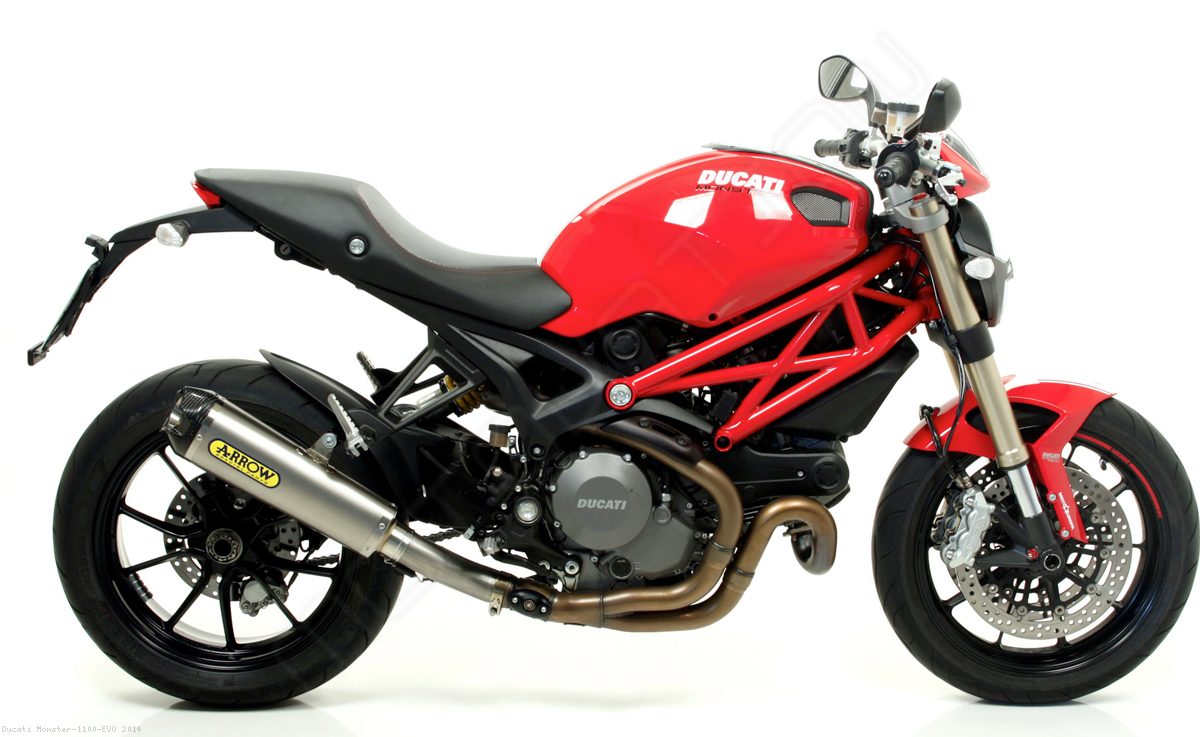 works exhaust by arrow ducati monster 1100 evo 2014. Black Bedroom Furniture Sets. Home Design Ideas