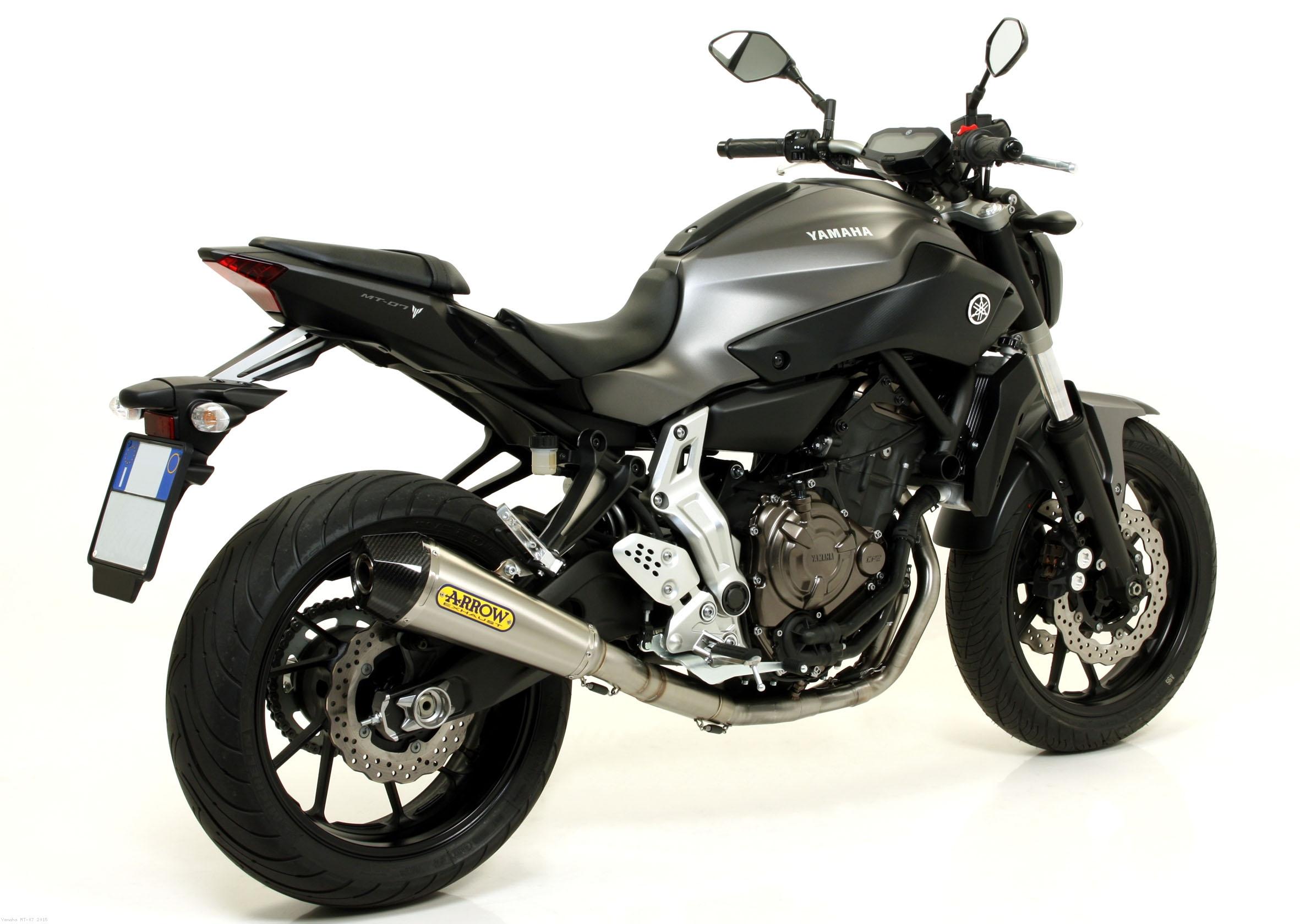 2015-2018 Yamaha FZ-07 MT-07 Two Brothers Carbon Fiber