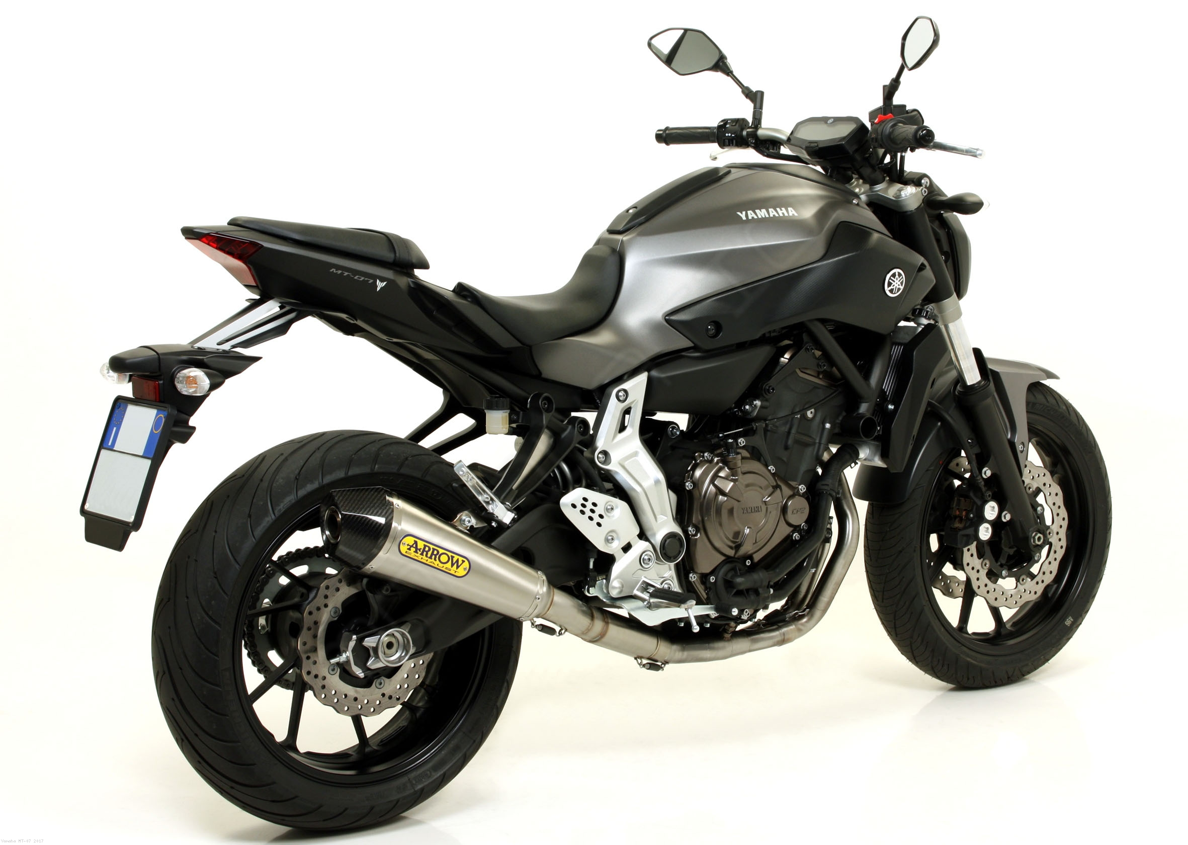 X kone exhaust system by arrow yamaha mt 07 2017 for Yamaha exhaust systems