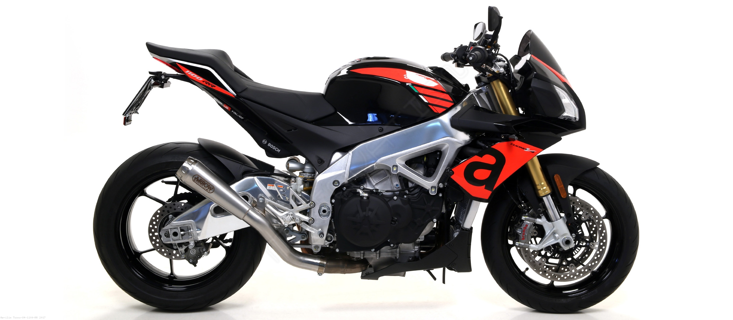 pro race exhaust by arrow aprilia tuono v4 1100 rr. Black Bedroom Furniture Sets. Home Design Ideas