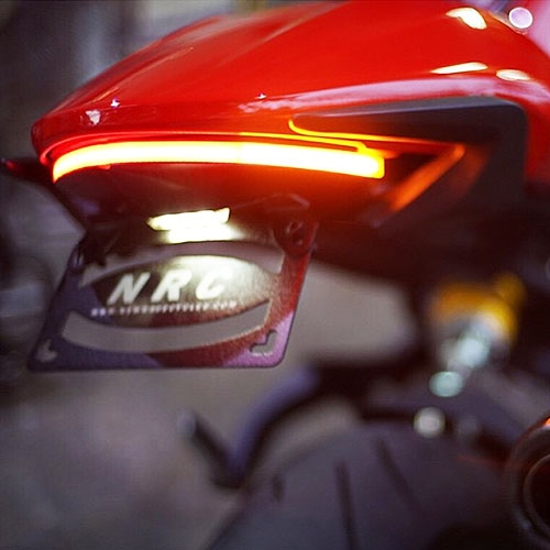 fender eliminator integrated tail light kitnrc ducati