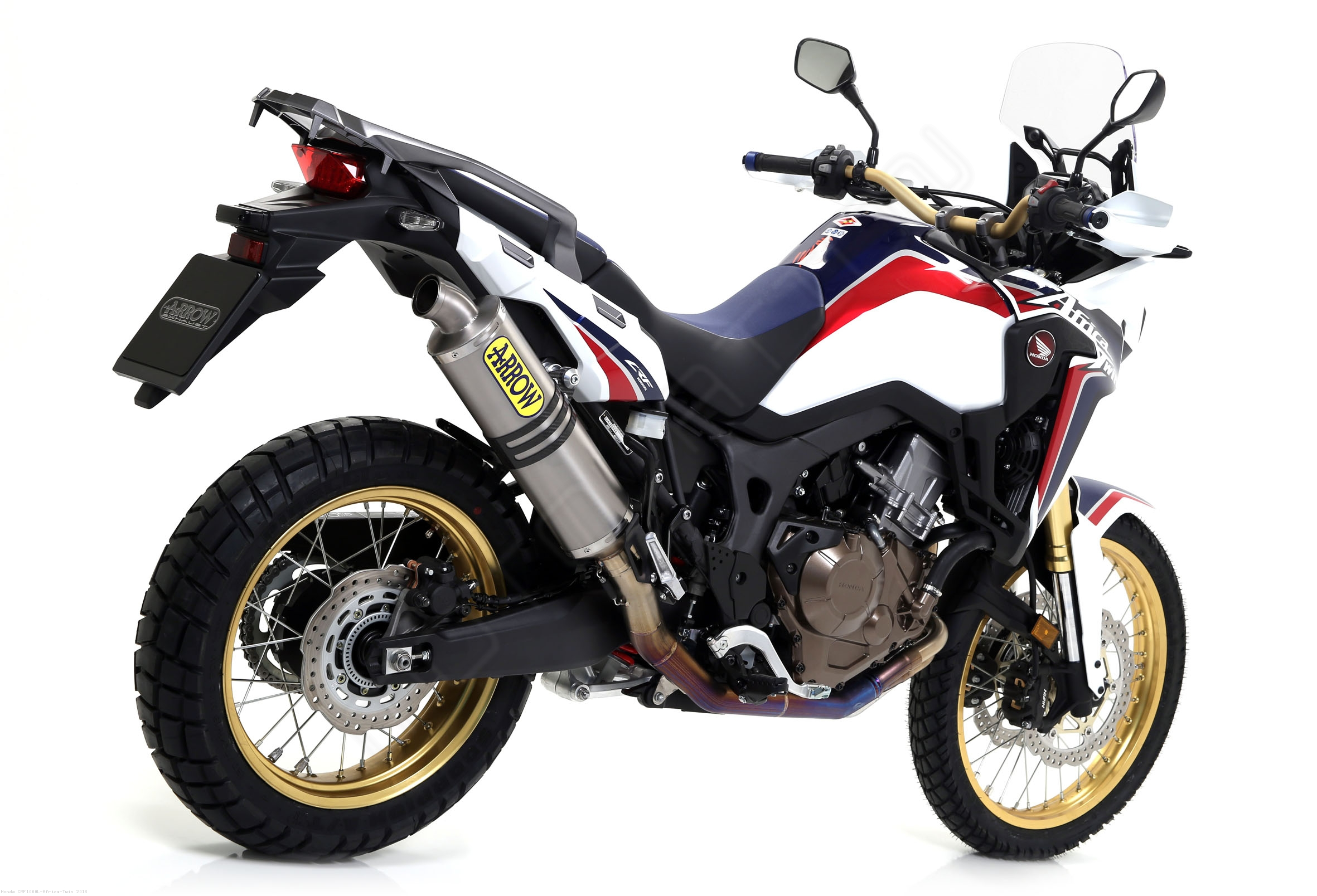 titanium racing full system exhaust by arrow honda crf1000l africa twin 2018 72021po. Black Bedroom Furniture Sets. Home Design Ideas
