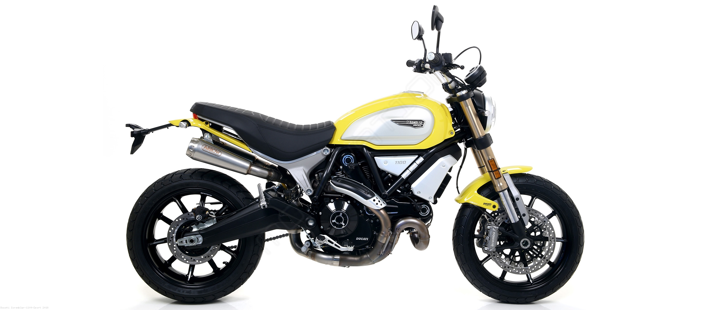 pro race exhaust by arrow ducati scrambler 1100 sport. Black Bedroom Furniture Sets. Home Design Ideas