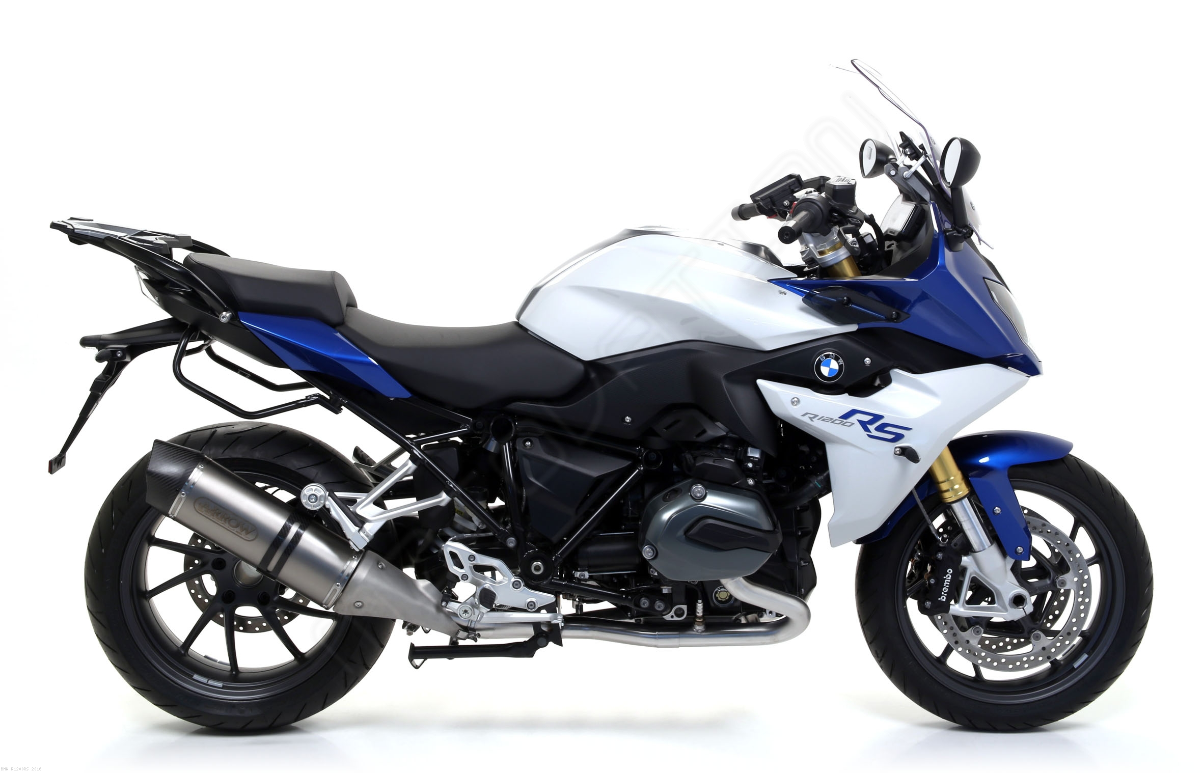 maxi race tech exhaust by arrow bmw r1200rs 2016 71842. Black Bedroom Furniture Sets. Home Design Ideas