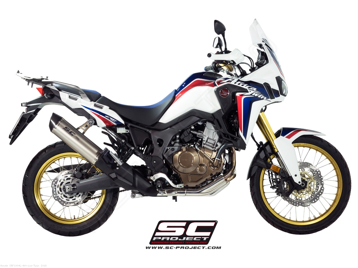 oval exhaust by sc project honda crf1000l africa twin 2016 h16 02t. Black Bedroom Furniture Sets. Home Design Ideas