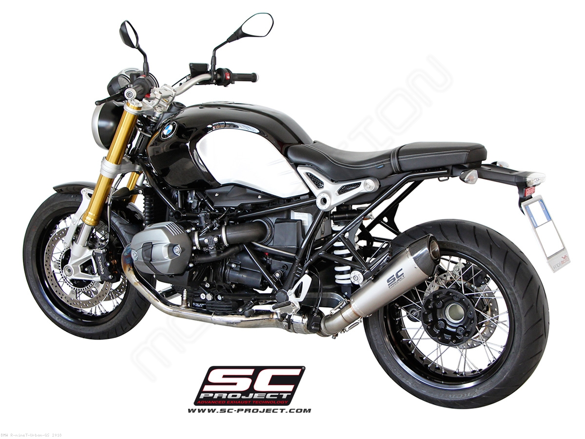 conic exhaust by sc project bmw r ninet urban gs 2018. Black Bedroom Furniture Sets. Home Design Ideas