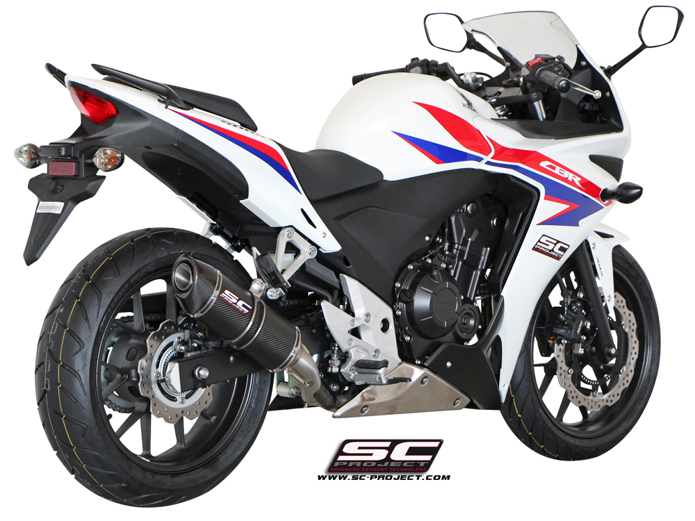 honda cbr 500 r oval exhaust by sc project. Black Bedroom Furniture Sets. Home Design Ideas