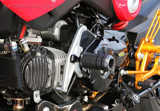 engine sliders by sato racing honda grom mx125 2015