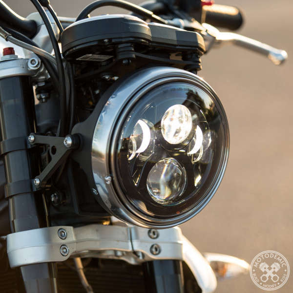 Single Headlight Conversion Low Mount Kit By Motodemic