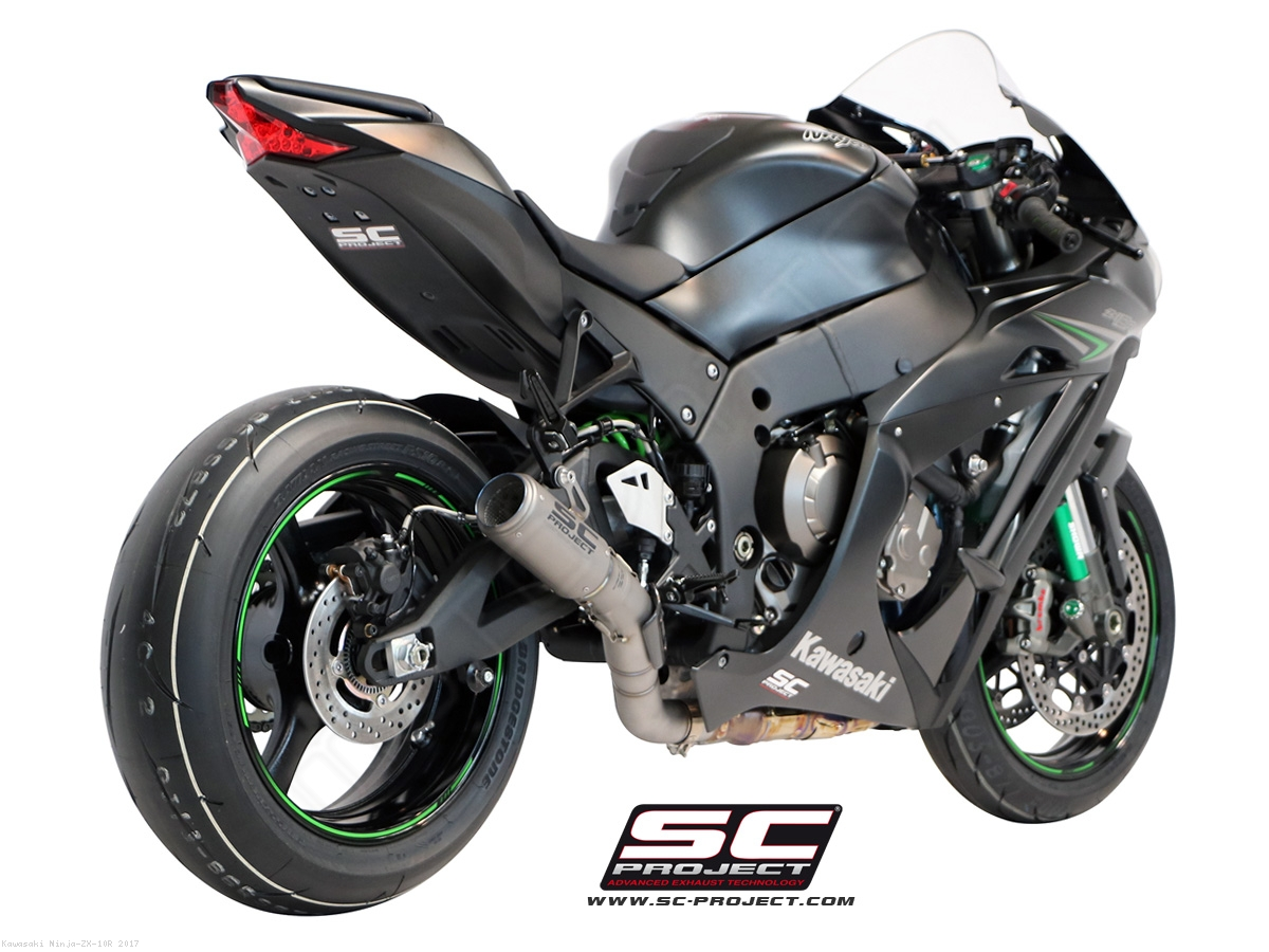 CR T Exhaust By SC Project Kawasaki Ninja ZX 10R 2017