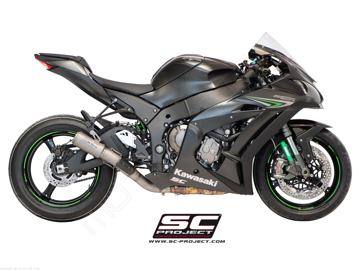 CR T Exhaust By SC Project Kawasaki Ninja ZX 10R 2018