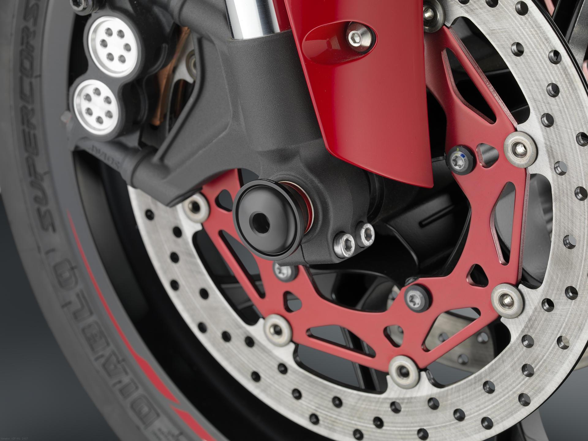SPORT R Front Wheel Axle Sliders By Rizoma Yamaha YZF R1