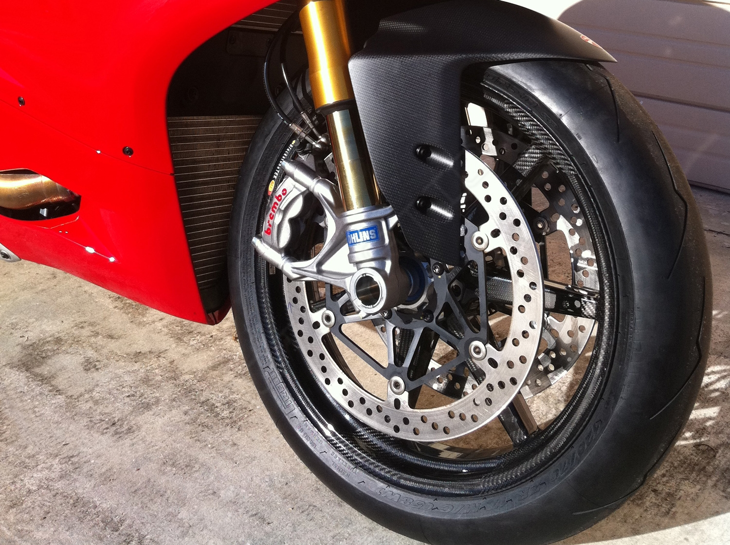 7 Spoke Carbon Fiber Wheel Set By Bst Ducati 1299 Panigale 2016