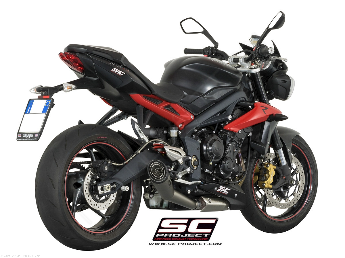 s1 conic exhaust by sc project triumph street triple r 2014 t13 41mg. Black Bedroom Furniture Sets. Home Design Ideas