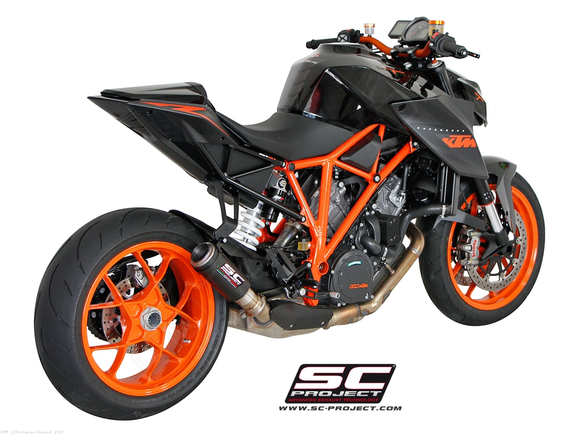 cr t exhaust by sc project ktm 1290 super duke r 2017. Black Bedroom Furniture Sets. Home Design Ideas