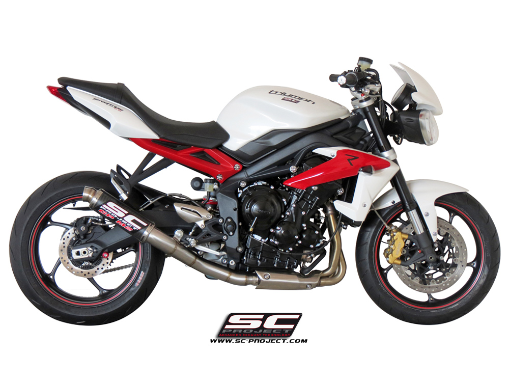 triumph street triple 2013 series gp m2 slip on exhaust by sc project. Black Bedroom Furniture Sets. Home Design Ideas